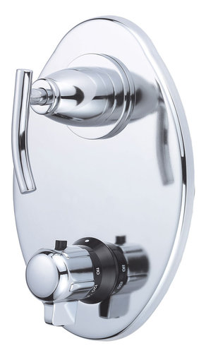 Danze D560154T Sonora Two Handle Thermostatic Shower Trim Kit - Chrome