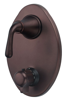Danze D560156RBT Bannockburn Two Handle Thermostatic Shower Trim Kit - Oil Rubbed Bronze