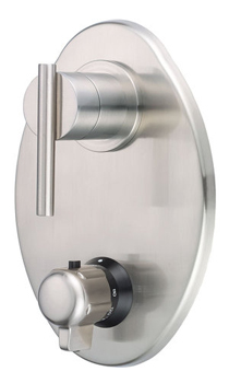 Danze D560158BNT Parma Two Handle Thermostatic Shower Trim Kit - Brushed Nickel