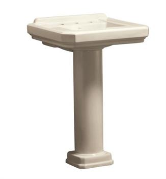 Danze DC026018BC Cirtangular 24'' Pedestal Lavatory Sink - Biscuit