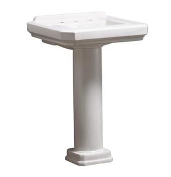 Danze DC026018WH Cirtangular 24'' Pedestal Lavatory Sink - White