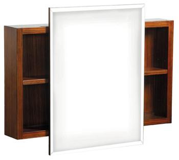 Danze DF034120ZB Mirrored Cabinet - Zebra Veneer