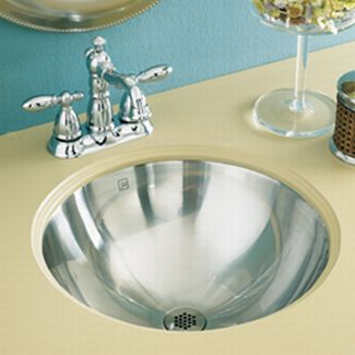 Decolav 1220-B Drop in or Undermount Bowl with Overflow - Brushed Stainless Steel