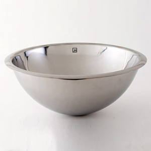 Decolav 1220-P Drop in or Undermount Bowl with Overflow - Polished Stainless Steel