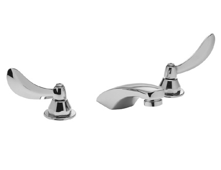 Delta Commercial 23C334 Widespread Bathroom Faucet with Popup Drain - Chrome