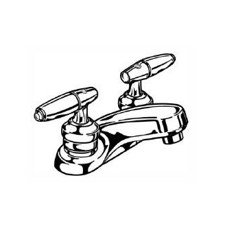 Delta 2523-HDF Commercial Two Handle Bathroom Faucet 2 Hole Installation - Chrome