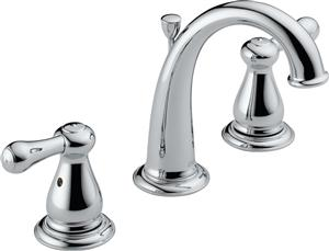 Delta 3575LF Leland Two Handle Widespread Lavatory Faucet - Chrome