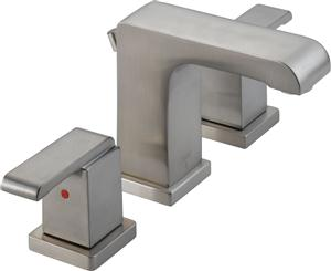Delta 3586LF-SSMPU Arzo Two Handle Widespread Lavatory Faucet - Stainless Steel