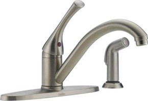 Delta 400SSDSTA Classic Stainless Single Kitchen Faucet Spray - Chrome