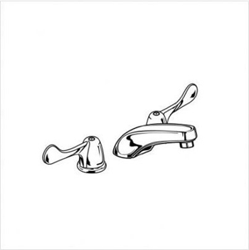 Delta Faucet 3549-WFLGHDF Commercial Widespread Low Spout-L/Drain Bathroom Faucet - Chrome