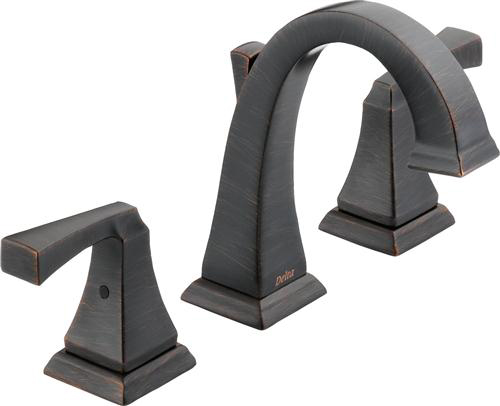 Delta 3551LF-RB Dryden Two Handle Widespread Bathroom Faucet - Venetian Bronze