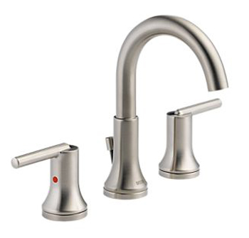 Delta 3559-SSMPU-DST Trinsic 8 in. Widespread 2-Handle High Arc Bathroom Faucet - Stainless Steel