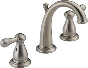 Delta 3575LF-SS Leland Two Handle Widespread Lavatory Faucet - Stainless Steel