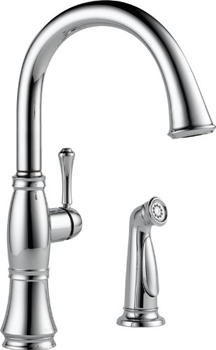 Delta 4297-DST Cassidy Single Handle Kitchen Faucet with Spray - Chrome