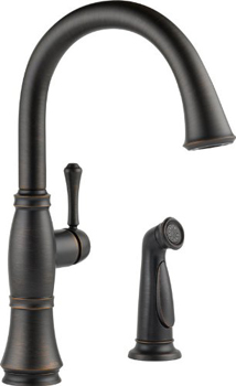 Delta 4297-RB-DST Cassidy Single Handle Kitchen Faucet with Spray - Venetian Bronze