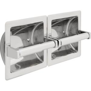 Delta 44970ST Commercial Recessed Twin Tissue Holder - Stainless Steel