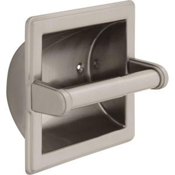 Delta 45072SN Commercial Recessed Tissue Holder - Satin Nickel