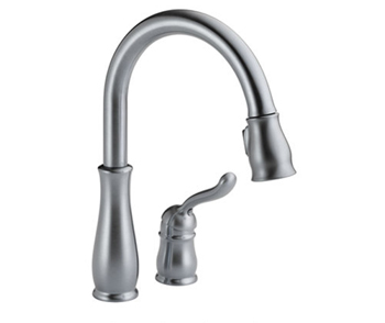 Delta 978 Ar Dst Leland Single Handle Pull Down Sprayer Kitchen Faucet Arctic Stainless