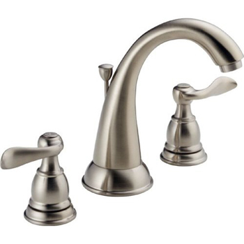 Delta B3596LF-SS Foundations Windemere Two Handle Widespread Lavatory Faucet - Stainless Steel