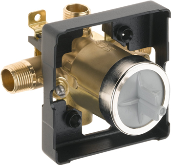 Delta R10000-UNWSHF Universal Mixing Rough-In Valve with Service Stops and High-Flow