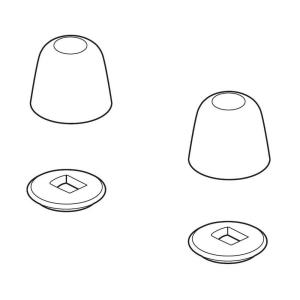 Delta RP73630 Pair of Cap and Base Parts for Toilets