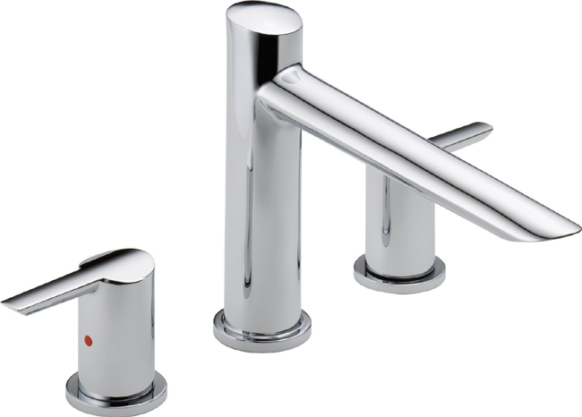 Delta T2761 Compel Roman Tub Faucet Trim Chrome
