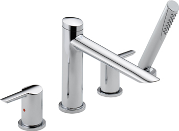 Delta T4761 Compel Roman Tub Faucet Trim with Hand Shower - Chrome