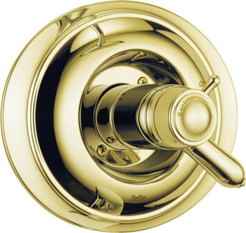 Delta T17T030-PB Innovations TempAssure Valve Only Trim With Volume Control - Polished Brass