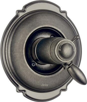 Delta T17T055-PT Victorian TempAssure Valve Trim Only With Volume Control - Aged Pewter