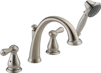 Delta T4775-SS Leland Roman Tub Faucet Trim With Handshower - Stainless Steel