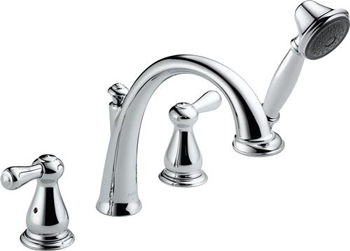 Delta T4775 Leland Roman Tub Faucet Trim With Handshower - Chrome