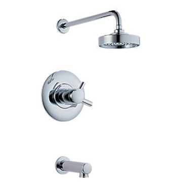 Brizo T60420-PC Modern Thermostatic Tub & Shower Trim - Polished Chrome