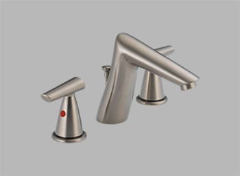 Delta 3582LF-SSMPU Rhythm Two Handle Widespread Lavatory Faucet Brilliance Stainless