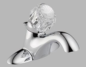 Delta 522-MPU-DST Classic Single Handle Centerset Lavatory Faucet with DIAMOND(R) Seal Technology Chrome