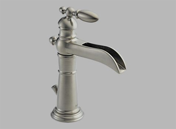 Delta 554-SS Victorian Single Handle/Hole Lavatory Faucet Brilliance Stainless