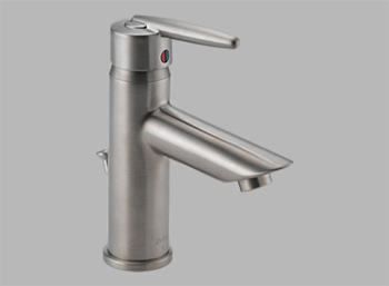 Delta 585LF-SSMPU Grail Single Handle/Hole Centerset Lavatory Faucet Brilliance Stainless