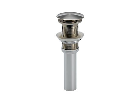 Delta 72172-SS Push Pop-Up Less Overflow - Stainless