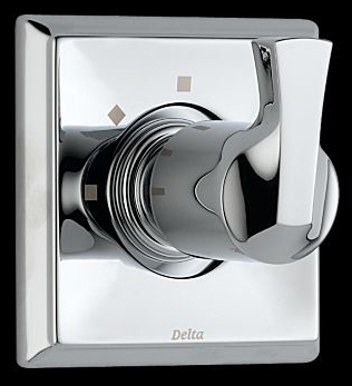 Delta T11851 Dryden 3-Setting Single Handle Diverter Trim - Chrome