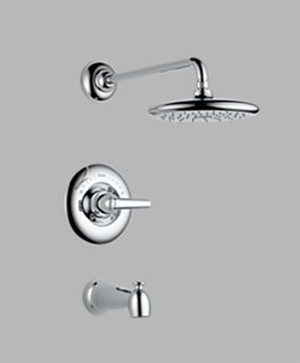 Delta T14482 Rizu Single Handle Tub/Shower Trim Chrome