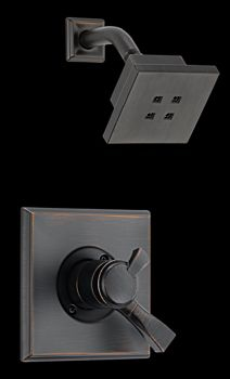 Delta T17251-RBH2O Dryden Monitor(R) 17 Single Handle Shower Trim with H2Okinetic Technology Venetian Bronze