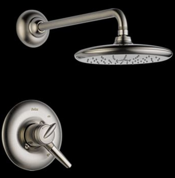 Delta T17282-SS Rizu Monitor(R) 17 Single Handle Shower Trim Brilliance Stainless