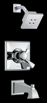 Delta T17451-H2O Dryden Monitor(R) 17 Single Handle Tub/Shower Trim with H2Okinetic Technology Chrome
