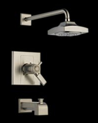 Delta T17T486-SS Arzo TempAssure(R) Single Handle Tub/Shower Trim Brilliance Stainless