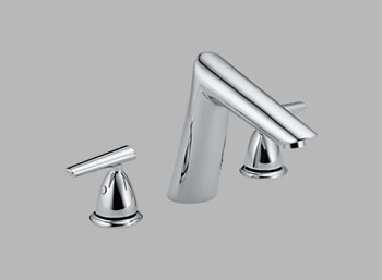 Delta T2782 Rizu Two Handle Roman Tub Faucet Trim Chrome