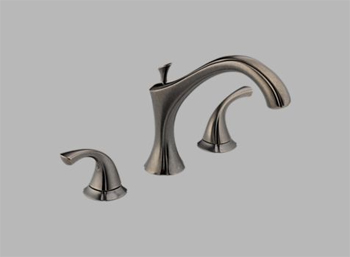 Delta T2792-PT Addison Two Handle Roman Tub Faucet Trim Aged Pewter