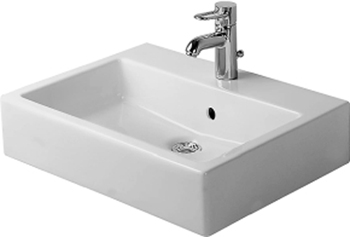 Duravit 04546000301 Vero Washbasin with Tap Platform - White/WonderGliss
