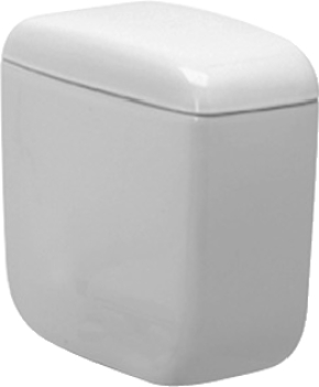 Duravit 092510 Duraplus Cistern With Single Flush Mechanism and Side Lever - White