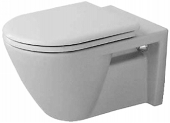 Duravit 016009-00-00 Starck 2 Wall Mounted Toilet - White