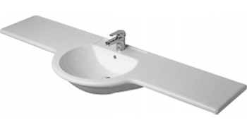 Duravit 040114-00-30 Darling Series Furniture Washbasin - White