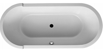 Duravit 700010-00-0000090 Starck Built In Oval Bathtub With Panel And Support Frame - White